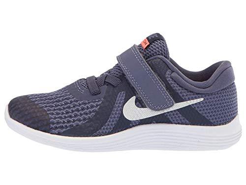 Nike Girl's Revolution 4 (TDV) Running Shoe (8 Toddler M, Sanded Purple/Metallic Silver)