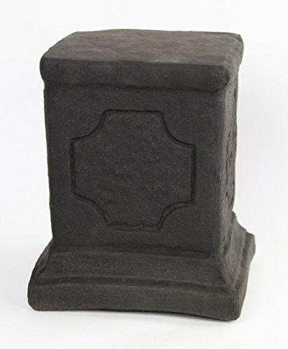 Fleur de Lis Garden Ornaments LLC Square Concrete Pedestal cement sm pedestal Cast stone Base (Square Pedestal Cast)