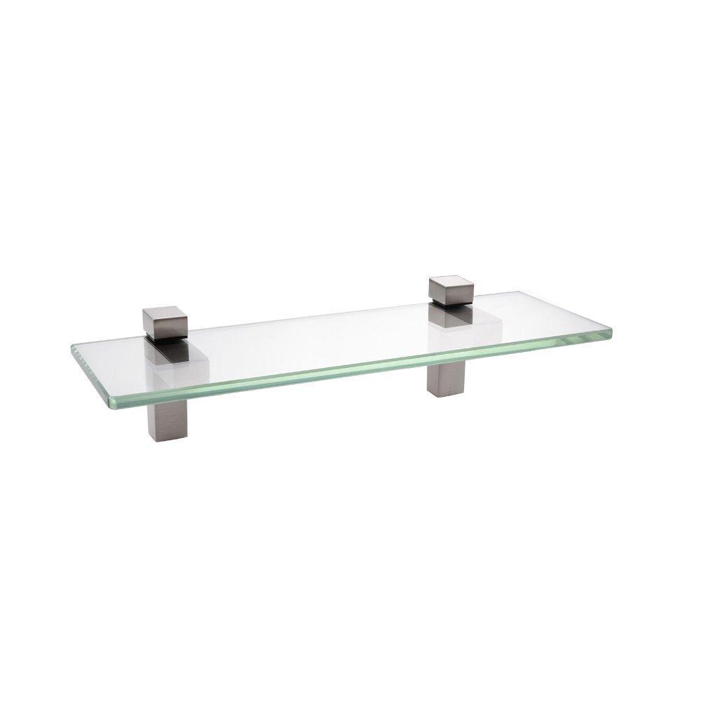 (35CM, Brushed Nickel) - KES 14-Inch Bathroom Tempered Glass Shelf 8MM-Thick Wall Mount Rectangular, Brushed Nickel Bracket, BGS3201S35-2 B0111KLJ2U