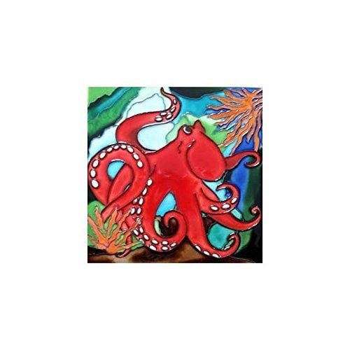 CCTC Octopus Decorative Ceramic Wall Art Tile 8x8