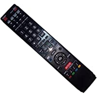 Replaced Remote Control Compatible for Sharp LC-70LE755U LC-60LE750U LC-60LE632U LC-60LE810UN LC46LE835U LC-70LE734UN AQUOS LED LCD HD TV with NETFLIX 3D Button