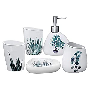 41LNPmfm2mL._SS300_ 70+ Beach Bathroom Accessory Sets and Coastal Bathroom Accessories 2020