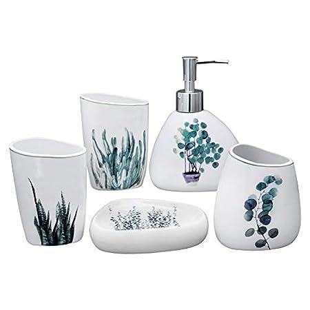 41LNPmfm2mL._SS450_ 50+ Beach Bathroom Accessory Sets and Coastal Bathroom Accessories