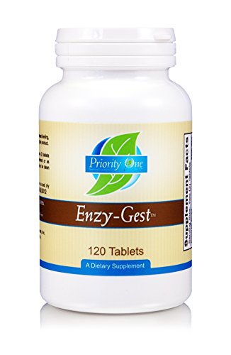 Priority One Vitamins Enzy Gest 120 Tablets - Powerful Two Phase Formula That Provides enzymes to Maintain Healthy Digestion and intestinal Enzyme Activity.*