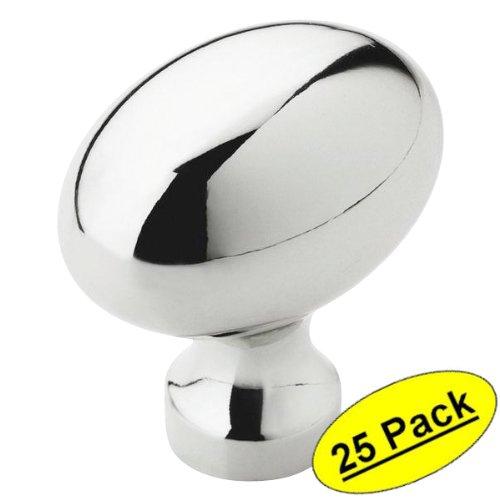 Amerock BP53014-26 Polished Chrome Oval Cabinet Knob - 1-3/8
