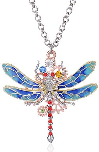 Zealmer Steampunk Dragonfly Pendant Necklace product image