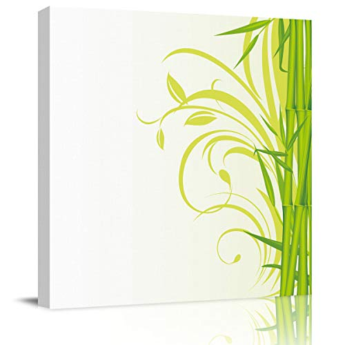 Canvas Print Wall Art Artistic Bamboo Illustration Stretched