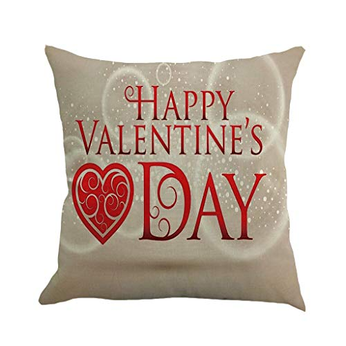 Mome  Wall Stickers Decoration  Happy Valentine's Day Letter Decor Print Square Cushion Cover for Baby Supersoft Party~ Handmade Decorative Pillowcase, Multicolor, 18