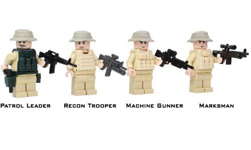 Custom Army Builder Military Minifigures - Modern Warfare : US Army Rangers Recon Patrol
