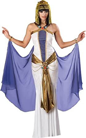 InCharacter Costumes, LLC Jewel Of The Nile Full Length Panne Gown, White/Purple, Small