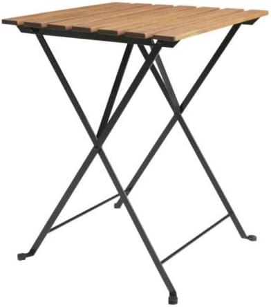 Ikea TARNO - Mesa Plegable, Acacia, Acero - 55x54 cm: Amazon.es: Hogar
