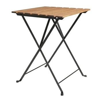 Tavoli In Legno Pieghevoli Ikea.Ikea Tarno Tavolo Pieghevole In Legno Di Acacia Acciaio Inox