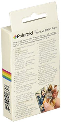 Polaroid 2x3ʺ Premium ZINK Zero Photo Paper, paquete de 50 - Compatible con las cámaras digitales de impresión instantánea Polaroid Snap /SnapTouch y la impresora de fotos móvil Polaroid ZIP