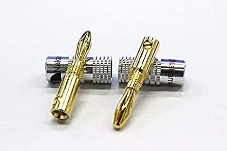 Conector banana Nakamichi de oro de 24 quilates para altavoces jack de Audio de bolongking