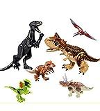 MyElegantMoments Dinosaur Toys, Dinosaur Building Block Figures Toys 2 Large 4 Mini, Dinosaur...