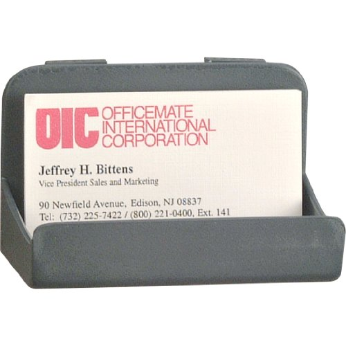 Officemate Verticalmate Business Card Holder, Slate Gray ()
