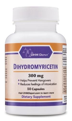 Dihydromyricetin (DHM) 50 Capsules, 300mg - Hangover Prevention Pills, Cure Hangovers Before They Start (Third Party Tested) Made in The USA by Double Wood Supplements (DHM ()