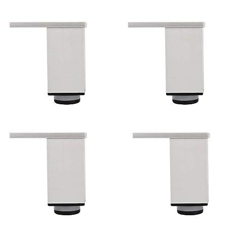 Patas de muebles de acero inoxidable (4 piezas), patas de ...