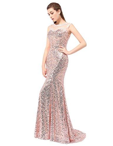 Sarahbridal Long Evening Dresses for Women Uk Sequins Prom Dress ...