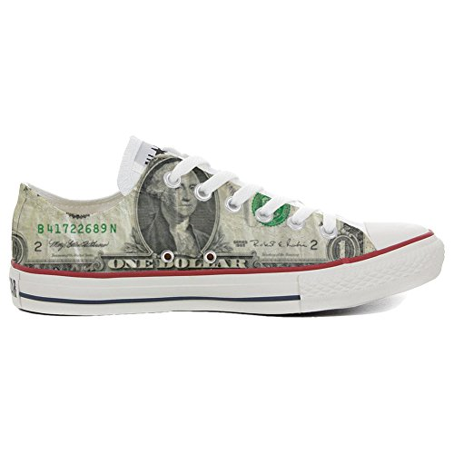 Converse Customized Adulte - chaussures coutume (produit artisanal) Slim Dollaro Style