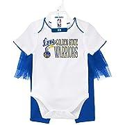 OuterStuff NBA Newborn Half Court Dancer Tutu Legging with Onesie Set Golden State Warriors-White-0-3 Months