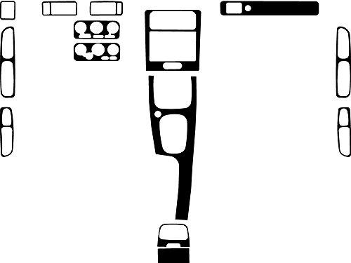 Rdash Dash Kit Decal Trim for Volvo S70 / V70 1998-2000 - Wood Grain (Burlwood (Volvo S70 Radio)