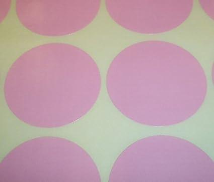 para precios 38mm Pack de 100 pegatinas redondas de colores de Audioprint Ltd Rosa