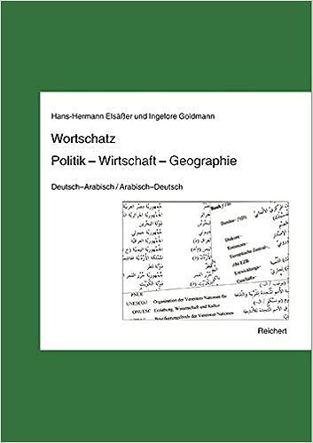 Book Wortschatz Politik - Wirtschaft - Geographie: Deutsch-Arabisch / Arabisch-Deutsch