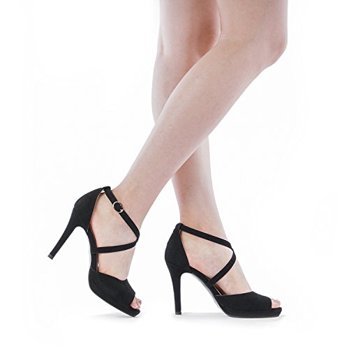 Heeled PAIRS Women's Stilettos BLACK DREAM GAL Sandals 10 Fashion qwTUygX