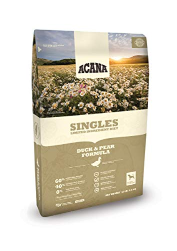 - ACANA Singles Limited Ingredient Dry Dog Food, Duck & Pear, Biologically Appropriate & Grain Free, 13 Pounds