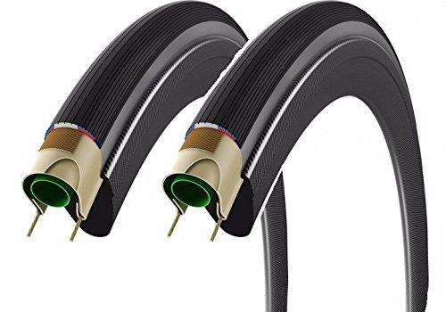 2本セット Vittoria ヴィットリア CORSA コルサ クリンチャータイヤ700c グレーサイド Clincher Tire [並行輸入品] B01M4RN8BP 700×23c