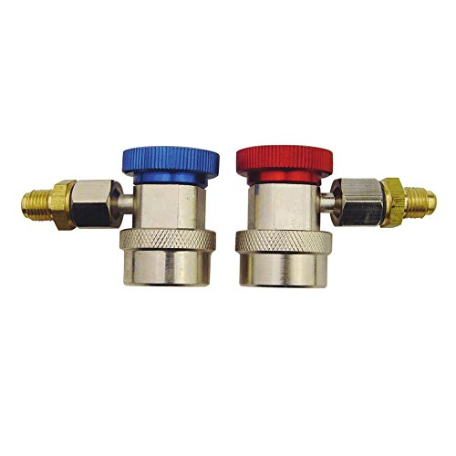 Zero HVAC 1/4 Quick Couplers Low And High Pressure 400QC17L/H For R134A Air Conditioning Adjustable Quick Connector Joints Fitting