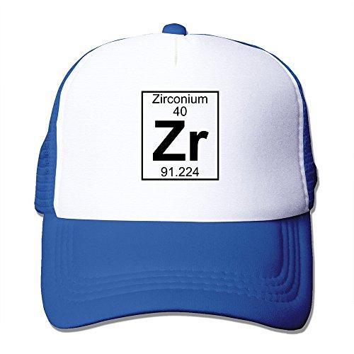 WZN Zirconium Periodic Table Element Hat With RoyalBlue ()