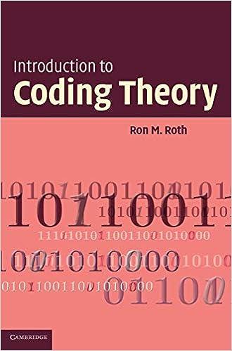 Algebraic Coding Part 1 Handbook of Coding Theory