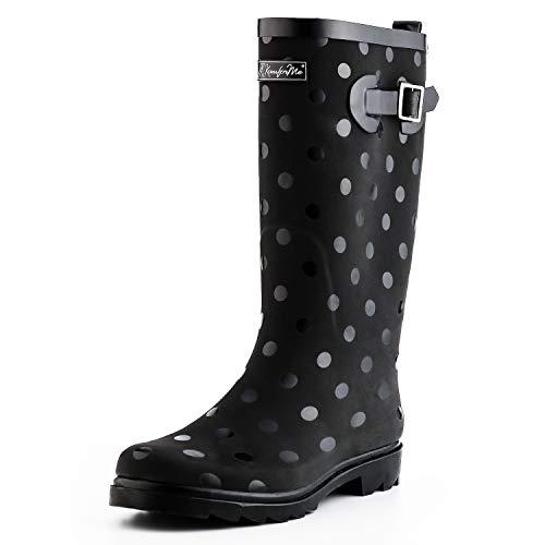 (KomForme Women Fashion Rain Boots (Size 5, Circle))