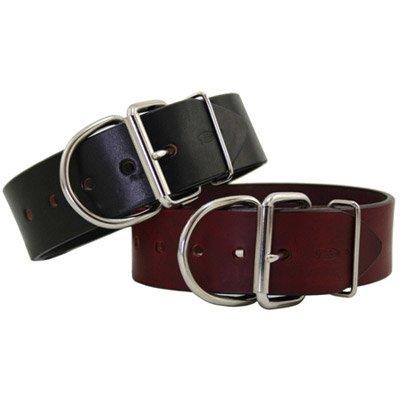 Tuff Stuff Extra Wide Leather Collar 2 in