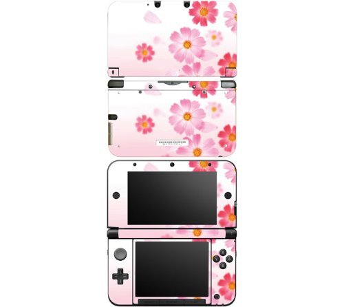 nintendo-3ds-xl-decal-skin-sticker-pink-daisy-by-decalskin