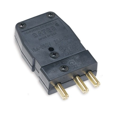 Marinco Power Products 20M.OEM Bates Stage Pin, Male Inline OEM Pack, 100/Master, 20 Amp, 125V