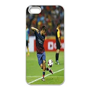 [Neymar Jr Series] IPhone 5,5S Cases Neymar Jr With Football On Foot, Color Case For Iphone 5s Yearinspace - White Kimberly Kurzendoerfer