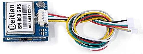 Sanyuechun BN-880 GPS Module Active Antenna NMEA-0183 Flight Control with Flash Compass HMC5883L AMP2.6//Pix4//Pixhawk Support GPS Glonass Beidou Car Navigation