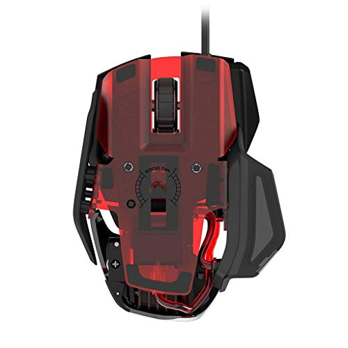 Ciyoon 2019 Black for Mad Catz RAT4 Wired Optical USB LED RGB Mouse with 9 Programmable Buttons (Best Claw Grip Mouse 2019)