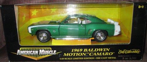 Motion Camaro 1969 Baldwin (#32470 Ertl American Muscle 1969 Baldwin Motion Camaro,Green 1/18 Scale Diecast)