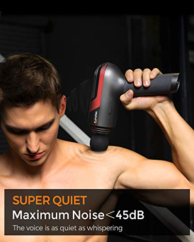 Everyfun Professional Massage Gun Deep Tissue Percussion Muscle Massagers for Pain Relief, Handheld Electric Body Massager, Super Quiet 10H LG Battery Life