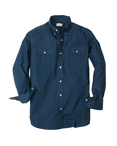 Backpacker solid Flannel, Navy, Medium