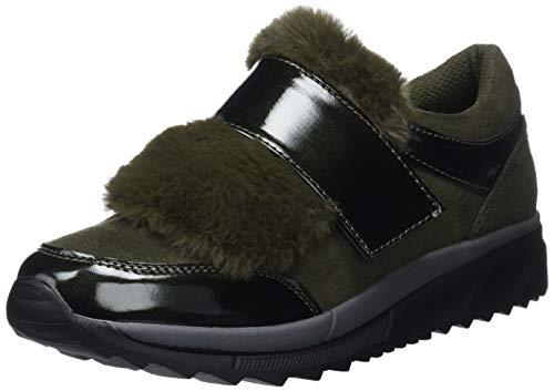 Bass3d 41585, Sneakers Basses Femme Vert (kaki Kaki)
