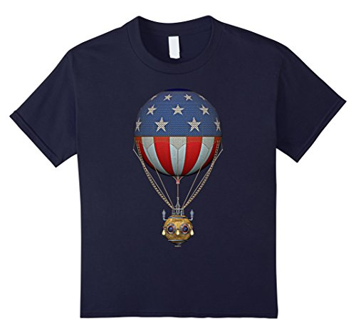 Kids Steampunk Stars and Stripes Hot Air Balloon 8 Navy