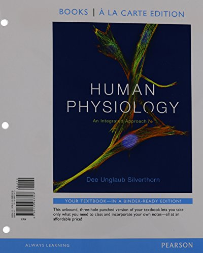Human Physiology: An Integrated Approach, Books a la Carte Plus Mastering A&P with eText -- Access Card Package (7th