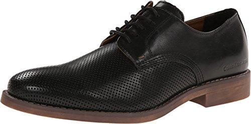 CK Jeans Men's Onyx Perf Leather Oxford, Black, 13 M US