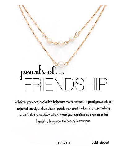 Daycindy Boho Coin Pearl Crystal Beaded Metal Chain Initial Choker Necklace Jewelry Gold ()
