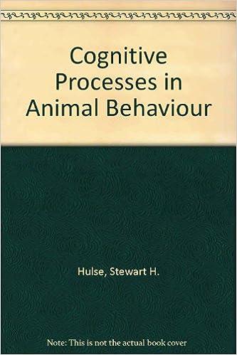 Cognitive Processes in Animal Behavior